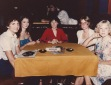 Las Vegas, 1981: That's me, second from left, looking very glamorous (I think, at the time) in my strapless jumpsuit with my cigarette.