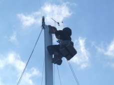 Even watching braver sailors go up my boat's mast gives me the heebie jeebies. Vesna scales ice mountains. How cool is that? Check out her feats at http:gonenorth.weebly.com