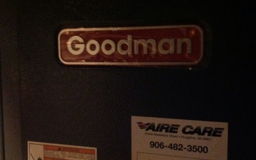 Good Man Indeed: Crystal clear tarot interpretation on the front of our new furnace.