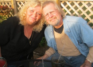 Here's Denise with her honey, Greg. She's looking foward to publishing her own book someday soon.