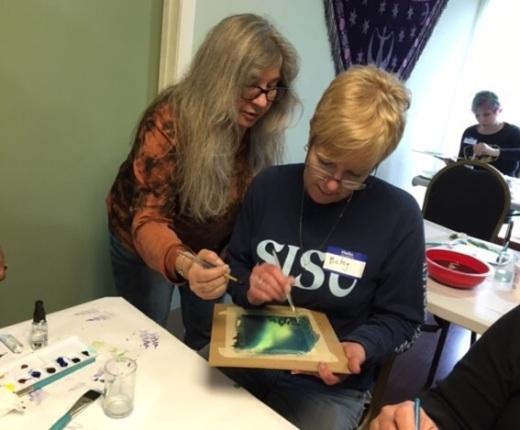 Watercolor lessons by Donna Lenard available for large and small groups.