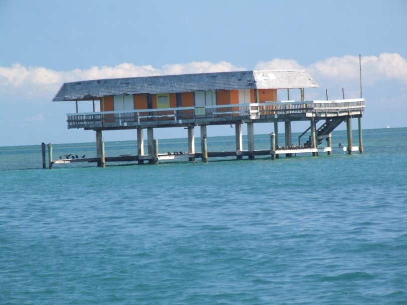Key Biscayne Channel offers closeup views of Stiltsville, a unique part of Miami history.
