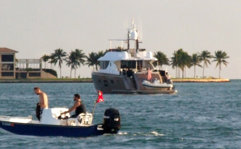 Spring Break in Miami Beach always offers interesting people and boat watching.