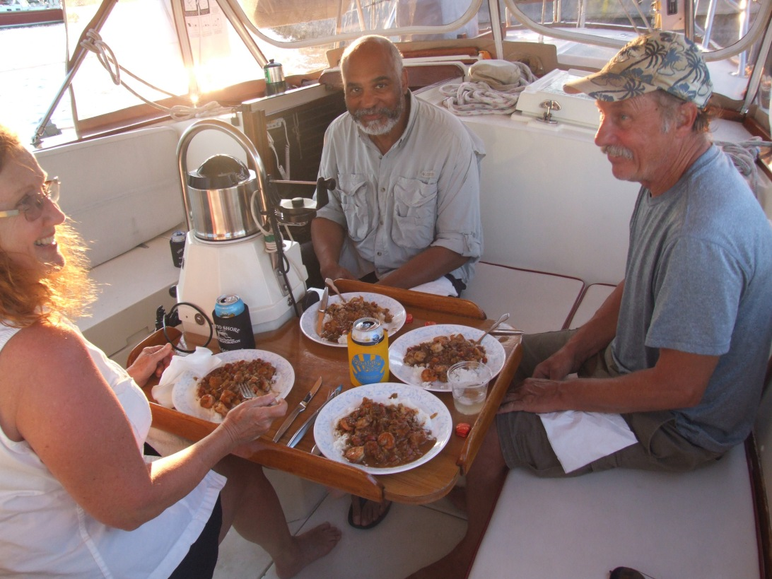 Jill whips up a delectable feast aboard Shibumi.